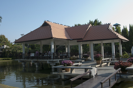 Pavillion on the pond, Suan Buak Haad (Park)